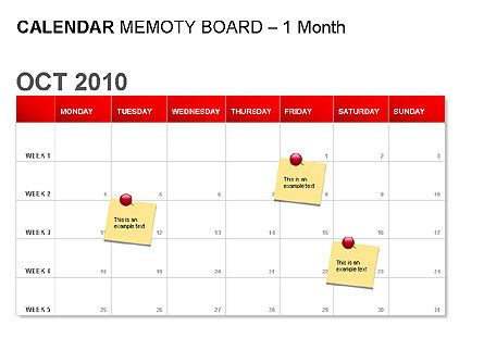 Red Calendar, Slide 3, 00007, Timelines & Calendars — PoweredTemplate.com