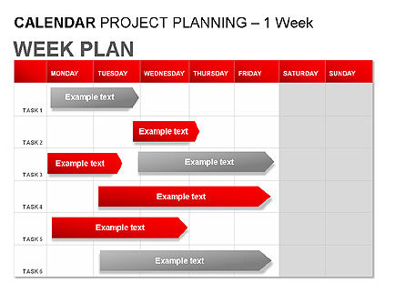 Red Calendar, Slide 4, 00007, Timelines & Calendars — PoweredTemplate.com