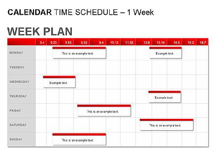 Red Calendar, Slide 5, 00007, Timelines & Calendars — PoweredTemplate.com