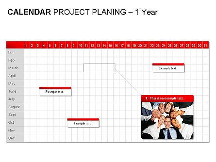 Red Calendar, Slide 7, 00007, Timelines & Calendars — PoweredTemplate.com