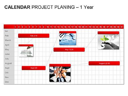 Red Calendar, Slide 8, 00007, Timelines & Calendars — PoweredTemplate.com