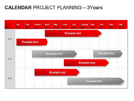 Red Calendar, Slide 9, 00007, Timelines & Calendars — PoweredTemplate.com