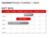 Timelines & Calendars: Red Calendar #00007