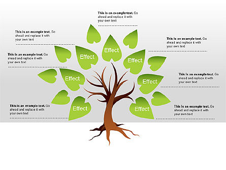 Cause and Effect Diagram, 00008, Tree Diagrams — PoweredTemplate.com