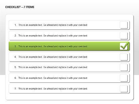 Checklist Collection, Slide 12, 00009, Text Boxes — PoweredTemplate.com