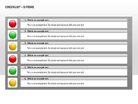 Checklist Collection, Slide 4, 00009, Text Boxes — PoweredTemplate.com