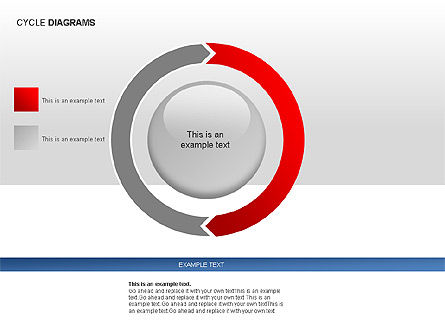 Cycle Diagram Collection, Slide 6, 00012, Pie Charts — PoweredTemplate.com
