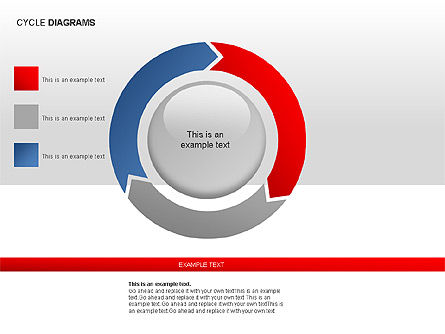Cycle Diagram Collection, Slide 7, 00012, Pie Charts — PoweredTemplate.com