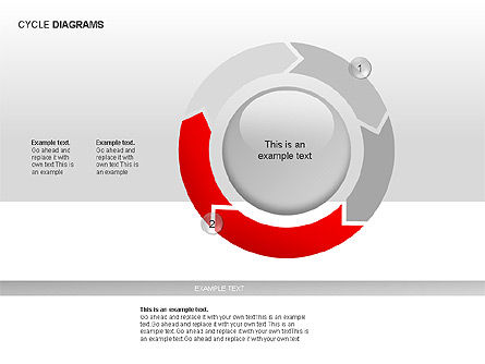 Cycle Diagram Collection, Slide 8, 00012, Pie Charts — PoweredTemplate.com
