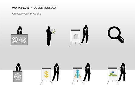 Workflow Process Chart, Slide 11, 00013, Process Diagrams — PoweredTemplate.com