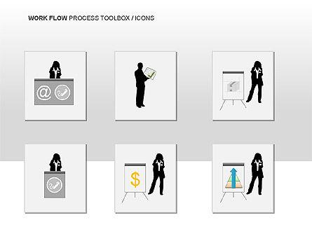 Workflow Process Chart, Slide 14, 00013, Process Diagrams — PoweredTemplate.com