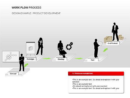Workflow Process Chart, Slide 2, 00013, Process Diagrams — PoweredTemplate.com