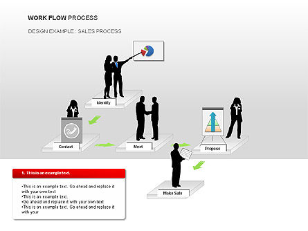 Workflow Process Chart, Slide 3, 00013, Process Diagrams — PoweredTemplate.com