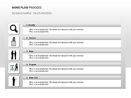 Workflow Process Chart, Slide 4, 00013, Process Diagrams — PoweredTemplate.com