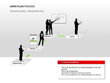 Workflow Process Chart, Slide 7, 00013, Process Diagrams — PoweredTemplate.com
