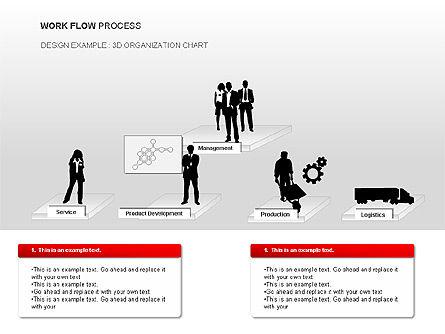 Workflow Process Chart, Slide 9, 00013, Process Diagrams — PoweredTemplate.com