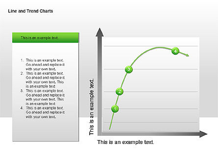 Line and Trends Charts, Slide 10, 00014, Graph Charts — PoweredTemplate.com