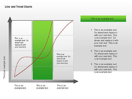 Line and Trends Charts, Slide 11, 00014, Graph Charts — PoweredTemplate.com