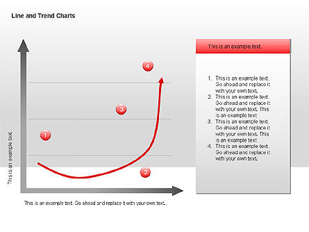 Line and Trends Charts, Slide 12, 00014, Graph Charts — PoweredTemplate.com