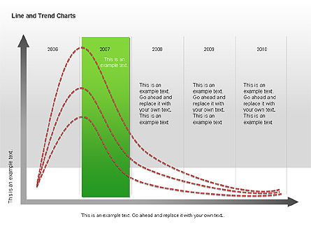 Line and Trends Charts, Slide 13, 00014, Graph Charts — PoweredTemplate.com