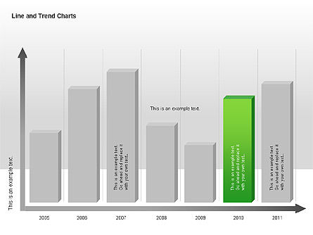 Line and Trends Charts, Slide 2, 00014, Graph Charts — PoweredTemplate.com