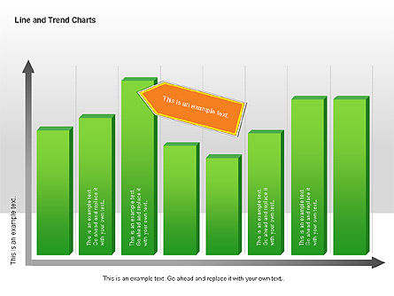 Line and Trends Charts, Slide 4, 00014, Graph Charts — PoweredTemplate.com