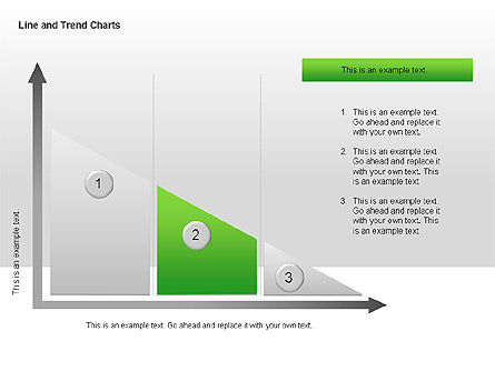 Line and Trends Charts, Slide 6, 00014, Graph Charts — PoweredTemplate.com