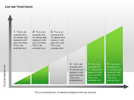Line and Trends Charts, Slide 7, 00014, Graph Charts — PoweredTemplate.com
