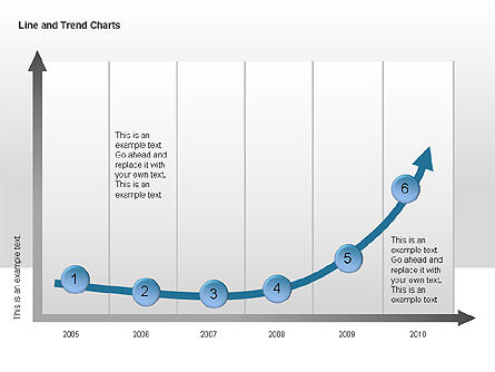 Line and Trends Charts, Slide 8, 00014, Graph Charts — PoweredTemplate.com