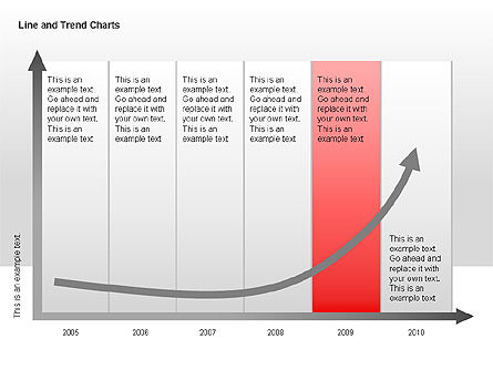 Line and Trends Charts, Slide 9, 00014, Graph Charts — PoweredTemplate.com