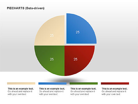 Pie Charts Collection (Data-Driven), Slide 2, 00016, Pie Charts — PoweredTemplate.com