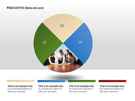 Pie Charts Collection (Data-Driven), Slide 3, 00016, Pie Charts — PoweredTemplate.com