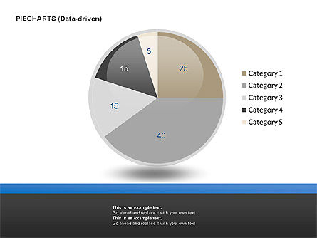 Pie Charts Collection (Data-Driven), Slide 9, 00016, Pie Charts — PoweredTemplate.com