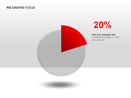 Pie Charts Collection, Slide 2, 00017, Pie Charts — PoweredTemplate.com