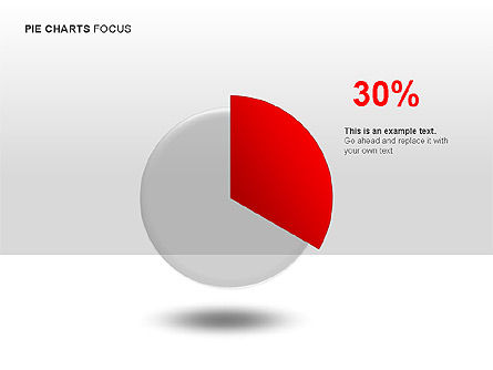 Pie Charts Collection, Slide 3, 00017, Pie Charts — PoweredTemplate.com