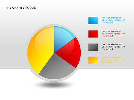 Pie Charts Collection, Slide 5, 00017, Pie Charts — PoweredTemplate.com