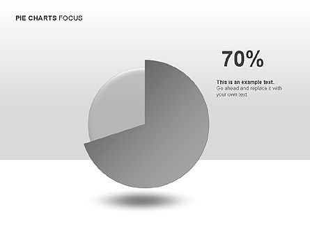 Pie Charts Collection, Slide 8, 00017, Pie Charts — PoweredTemplate.com