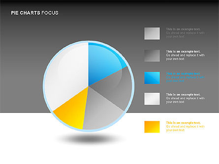 Pie Charts Collection, Slide 9, 00017, Pie Charts — PoweredTemplate.com