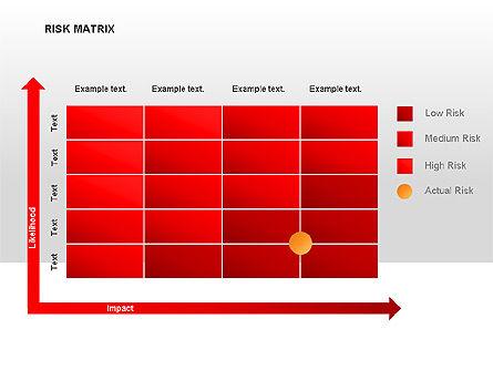 Risk Matrix Diagrams, Slide 4, 00018, Matrix Charts — PoweredTemplate.com
