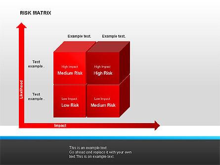 Risk Matrix Diagrams, Slide 5, 00018, Matrix Charts — PoweredTemplate.com