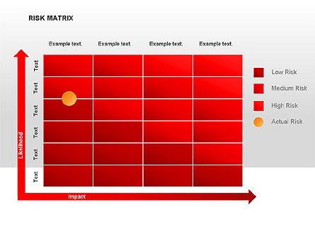 Risk Matrix Diagrams, Slide 6, 00018, Matrix Charts — PoweredTemplate.com