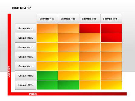 Risk Matrix Diagrams, Slide 7, 00018, Matrix Charts — PoweredTemplate.com