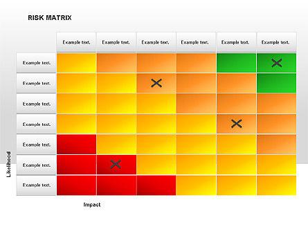 Risk Matrix Diagrams, Slide 8, 00018, Matrix Charts — PoweredTemplate.com