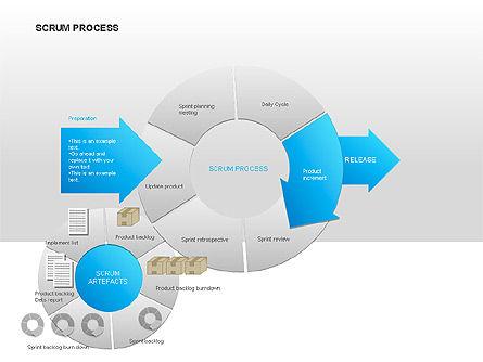 Scrum Process Diagram, Slide 4, 00019, Process Diagrams — PoweredTemplate.com