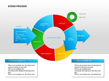 Scrum Process Diagram, Slide 9, 00019, Process Diagrams — PoweredTemplate.com