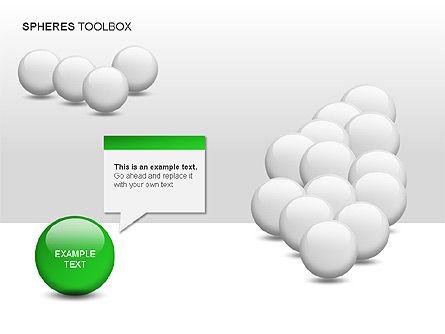 Spheres Toolbox, Slide 10, 00020, Shapes — PoweredTemplate.com
