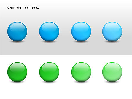 Spheres Toolbox, Slide 3, 00020, Shapes — PoweredTemplate.com