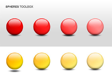 Spheres Toolbox, Slide 4, 00020, Shapes — PoweredTemplate.com