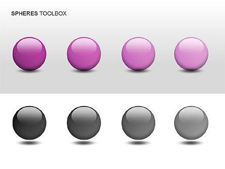 Spheres Toolbox, Slide 5, 00020, Shapes — PoweredTemplate.com