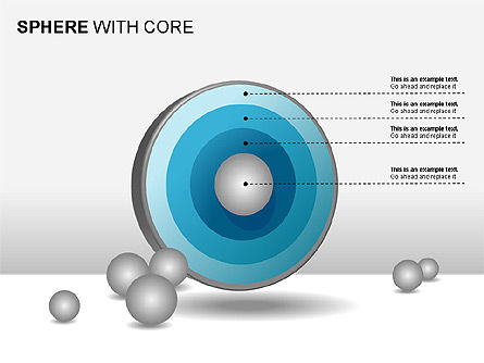 Spheres with Core Collection, Slide 12, 00021, Shapes — PoweredTemplate.com